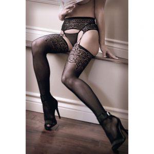 SHEER FANTASY INTO YOU Geometric Garter Stockings