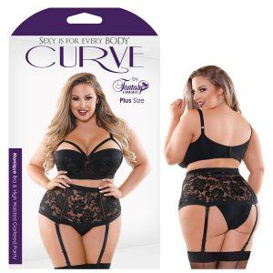 Curve Monique Bra & High Waisted Panty