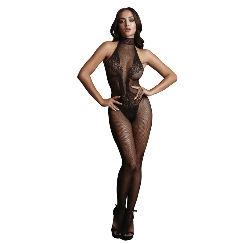 LE DESIR Fishnet and Lace Bodystocking