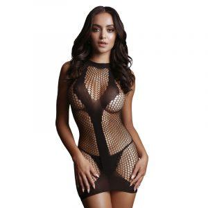 LE DESIR Met Contrast Mini Dress