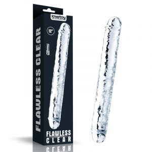 Flawless Clear Double Dildo 12''